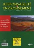 Xavier Cuny - Responsabilité & environnement N° 54, Avril 2009 : La responsabilité environnementale et sociétale des entreprises.