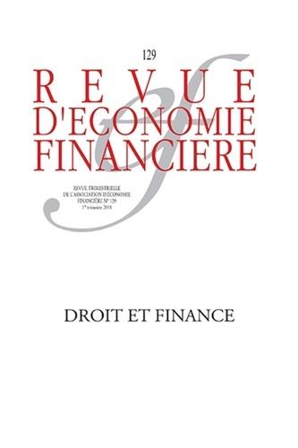 Bruno Deffains et Michel Prada - Revue d'économie financière N° 129, 1er trimestr : Droit et finance.