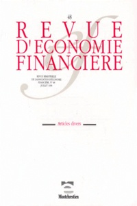 Thierry Sessin et  Collectif - Revue d'économie financière N° 48 : .