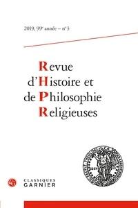 Matthieu Arnold - Revue d'Histoire et de Philosophie Religieuses N° 3/2019 : .