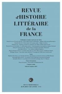 Revue dhistoire littéraire de la France N° 2, 2018.pdf