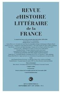 Revue dhistoire littéraire de la France N° 3, 2019.pdf
