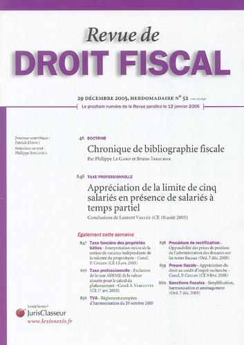 Philippe Le Gand - Revue de Droit fiscal N° 52, 29 décembre 2 : .