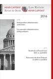 Philippe Dupichot et Denis Mazeaud - Revue de Droit Henri Capitant N° 10-11, 2016 : Les autorités administratives indépendantes ; Panmorama du droit français de 2015 à mi-2016.