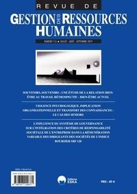 Alice Le Flanchec - Revue de Gestion des Ressources Humaines N° 113, juillet-août : Violence psychologique, implication organisationnelle et transfert des connaissance : le cas des seniors.