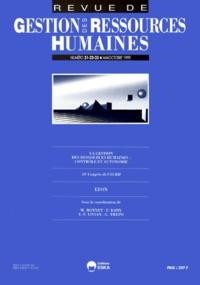 Georges Trépo et  Collectif - Revue de Gestion des Ressources Humaines N° 31/32/33, Mai-oct : La gestion des ressources humaines - Contrôle et autonomie, 10e congrès de l'AGRH, Lyon, septembre 1999.