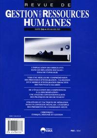 Jacques Rojot et  Collectif - Revue de Gestion des Ressources Humaines N° 56, Avril - Mai : .