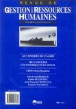 Fabien Blanchot et Jean-François Chanlat - Revue de Gestion des Ressources Humaines N° 57, Juillet-Août- : (Ré)concilier l'économique et le social - 16e Congrès de l'AGRH.