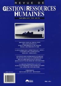Olivier Herrbach et Karim Mignonac - Revue de Gestion des Ressources Humaines N° 59, Janvier-Févri : .