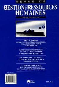 Gwénaëlle Poilpot-Rocaboy et Michelle Kergoat - Revue de Gestion des Ressources Humaines N° 60, Avril-Juin 20 : .