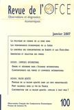 Jérôme Creel et Eloi Laurent - Revue de l'OFCE N° 100, Janvier 2007 : .
