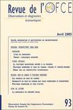 Edmund Phelps et Antoine Bouveret - Revue de l'OFCE N° 93, Avril 2005 : .