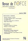 Gérard Cornilleau et Louis Chauvel - Revue de l'OFCE N° 96, Janvier 2006 : .