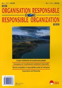 Jacques Igalens et Michel Capron - Revue de l'Organisation Responsable Volume 1 N° 1, Juin  : .