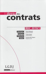Revue des contrats N° 1, Janvier 2010.pdf