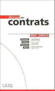 Denis Mazeaud et Thierry Revet - Revue des contrats N° 2, Avril 2005 : .