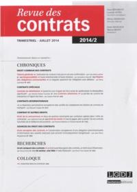 Alain Bénabent et Laurent Aynès - Revue des contrats N° 2, juillet 2014 : .