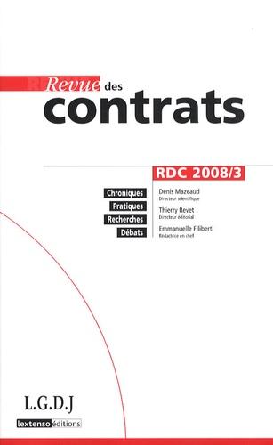 Denis Mazeaud - Revue des contrats N° 3, Juillet 2008 : .