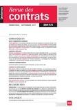 LGDJ - Revue des contrats N° 3, octobre 2017 : .