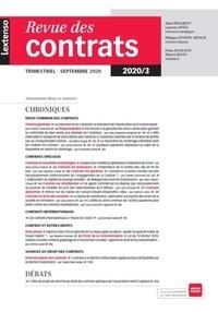 LGDJ - Revue des contrats N° 3, septembre 2020 : .