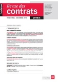 LGDJ - Revue des contrats N° 4, janvier 2019 : .
