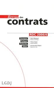 Denis Mazeaud et Thierry Revet - Revue des contrats N° 4, Octobre 2006 : .