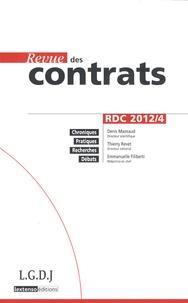 Denis Mazeaud et Thierry Revet - Revue des contrats N° 4, Octobre 2012 : .