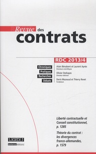 Alain Bénabent et Laurent Aynès - Revue des contrats N° 4, Octobre 2013 : .