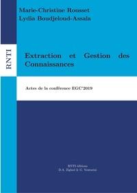 Marie-Christine Rousset et Lydia Boudjeloud-Assala - Revue des Nouvelles Technologies de l'Information B12 : Extraction et Gestion des Connaissances - Actes de la conférence EGC'2019.