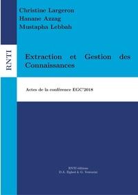 Christine Largeron et Hanane Azzag - Revue des Nouvelles Technologies de l'Information E34 : Extraction et Gestion des Connaissances - Actes de la conférence EGC'2018.