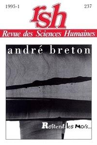 Jacqueline Chénieux-Gendron - Revue des Sciences Humaines N° 237, 1/1995 : André Breton - La poésie.