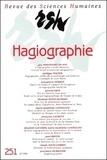 Elisabeth Gaucher - Revue des Sciences Humaines N° 251, 7/1998 : L'hagiographie.