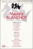 Roger Laporte - Revue des Sciences Humaines N° 253/1991 : Maurice Blanchot.