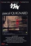 Dolorès Lyotard - Revue des Sciences Humaines N° 260, 10/2000 : Pascal Quignard.