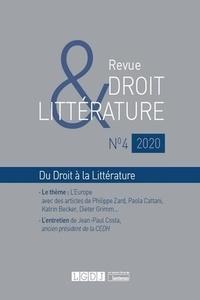 LGDJ - Revue Droit & Littérature N° 4/2020 : .