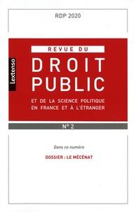 Yves Gaudemet - Revue du droit public et de la science politique en France et à l'étranger N° 2, mars-avril 202 : Le mécénat.