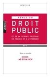 LGDJ - Revue du droit public N° 1-2 : .