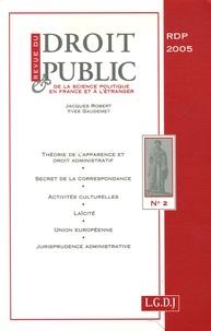 Stéphanie Gandreau et Clotilde Morlot-Dehan - Revue du droit public N° 2, Mars-avril 200 : .