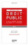 Yves Gaudemet - Revue du droit public N° 3, Mai-juin 2013 : Aspects de la laïcité.