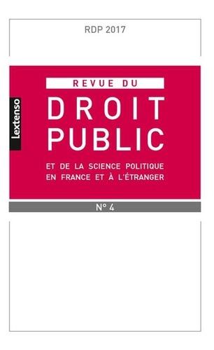 LGDJ - Revue du droit public N° 4-2 : .