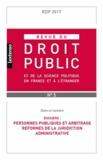 LGDJ - Revue du droit public N° 5, octobre 2017 : .