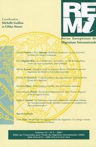 Michelle Guillon et Gildas Simon - Revue européenne des migrations internationales Volume 23, N° 1, 200 : .