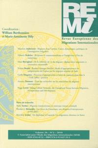 William Berthomière et Marie-Antoinette Hily - Revue européenne des migrations internationales Volume 26 N° 2/2010 : .