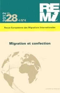 Sylvain Souchaud et Dominique Vidal - Revue européenne des migrations internationales Volume 28 N° 4/2012 : Migration et confection.
