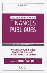 Pierre Sudreau et Michel Bouvier - Revue française de finances publiques N° 100 : Nouvelle gouvernance financière publique : Grands enjeux de demain.
