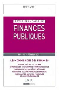 LGDJ - Revue française de finances publiques N° 113 : Les commissions des finances.