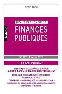 Michel Bouvier - Revue française de finances publiques N° 149, février 2020 : Le recouvrement.