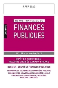 LGDJ - Revue française de finances publiques N° 151, septembre 20 : .