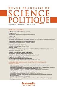 Sciences Po - Revue française de science politique N° 68, T2 : .