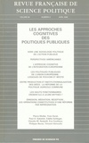 Vincent Simoulin et Pierre Müller - Revue française de science politique Volume 50 N° 2, Avri : Les approches cognitives des politiques publiques.